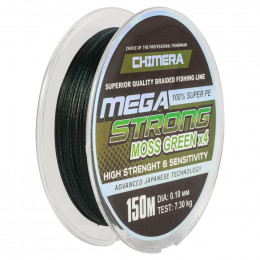 Шнур плетёный *CHIMERA* MEGASTRONG* Moss Green  150m.# 0.20mm. 11.4kg.