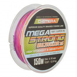 Шнур плетёный *CHIMERA* MEGASTRONG* Multicolor   150m.# 0.12mm. 5.4kg.