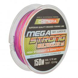 Шнур плетёный *CHIMERA* MEGASTRONG* Multicolor   150m.# 0.06mm. 2.7kg.